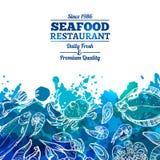Meeresfrüchte-Hintergrund-Menü Lizenzfreies Stockfoto