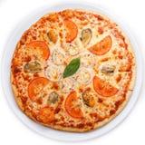Meeresfrüchte-Italiener-Pizza Stockfoto
