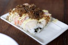 Meeresfrüchte Maki Sushi Stockfotos