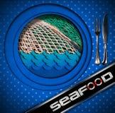 Meeresfrüchte - Menü-Design Stockbilder