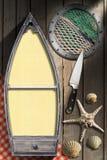 Meeresfrüchte - Menü-Schablone Stockfoto
