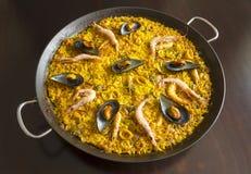 Meeresfrüchte-Paella Lizenzfreie Stockbilder