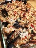 Meeresfrüchte Penne Rustica Pasta stockfotos