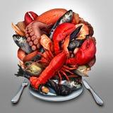 Meeresfrüchte-Platte lizenzfreie abbildung