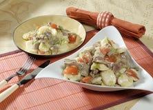 Meeresfrüchte-Salat stockbild