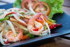 Meeresfrüchte-Salat oder Yum Stockbild