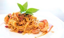 Meeresfrüchte-Spaghettis Stockfotos