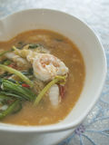 Meeresfrüchte Sukiyaki Stockfotografie