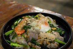 Meeresfrüchte Sukiyaki Lizenzfreie Stockfotos