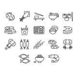Meeresfrüchte-Vektor-Illustrations-Satz Stockfotografie