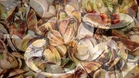 Meeresfrüchteküchemontage stock video footage