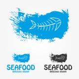 Meeresfrüchtelogo und -symbol Stockfotos