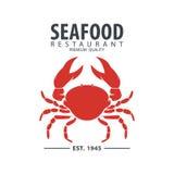 Meeresfrüchtelogodesign Stockbilder