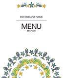 Meeresfrüchterestaurantmenü auf weißem Feld Lizenzfreie Stockfotografie
