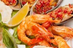 Meeresfrüchtesalat Stockfotos