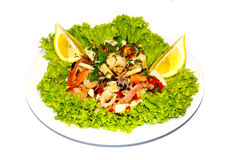 Meeresfrüchtesalatlebensmittel-Italien-Zitrone lizenzfreie stockfotografie