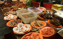 Meeresfrüchtestand, Fischmarkt China Lizenzfreie Stockfotos