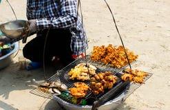 Meeresfrüchteverkäufer stockfotografie