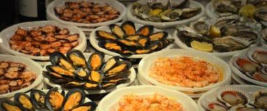 Meeresfrucht-Stall Stockfotografie