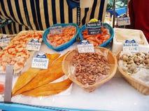 Meeresfruchtmarkt Stockbild