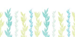 Meerespflanzenrebhorizontales nahtloses des blauen Grüns Stockfotografie