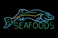 Meerestier-Neonzeichen stockfoto