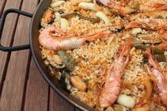 Meerestier-Paella lizenzfreies stockfoto