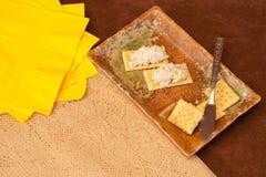 Meerestier-Verbreitung u. Cracker-Imbiß Lizenzfreies Stockfoto