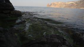 Meereswellen-Küsten-Hintergrund stock video footage