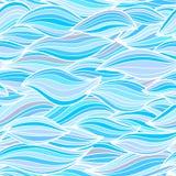 Meereswellenillustration Nahtloses patte Oberfläche der Tapete Textil Stockfoto