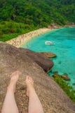Meereswellensteinansicht von oben Lizenzfreie Stockfotografie