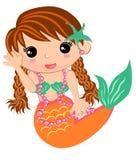 Meerjungfrau des kleinen Mädchens Stockbild