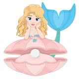 Meerjungfrau mit königlicher Perle Stockbild