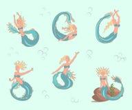 Meerjungfrauen eingestellt Stockbild
