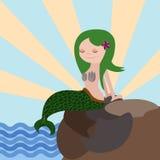 Meerjungfrauvektorillustration Lizenzfreie Stockfotos