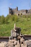 Meerkat - beneath English Castle Stock Image