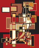 Meerkat-Mosaik Lizenzfreies Stockfoto