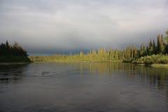 Meerkust vóór het onweer Royalty-vrije Stock Foto's