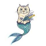 Meermin Cat Vector Character stock illustratie
