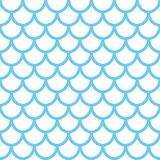 Meermin naadloos patroon De achtergrond van de vissenschaal Blauwe textuur voor uw ontwerp Royalty-vrije Stock Foto