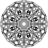 Meerminboegspriet Mandala stock fotografie