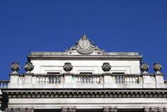 Meerminnen met een wapenschild en urnen van Somerset House, Londen, Engeland, Europa Royalty-vrije Stock Fotografie