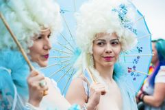 Meerminparade 2014 royalty-vrije stock afbeelding