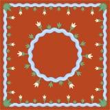 Meerpatroon op oranje achtergrond vector illustratie