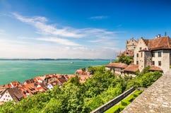 Meersburg ed il lago di Costanza, Germania Fotografia Stock