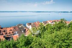 Meersburg in het Meer van Konstanz Stock Afbeeldingen