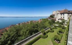 Meersburg - het Meer van Konstanz, Baden-Wuertemmberg, Duitsland, Europa royalty-vrije stock afbeelding