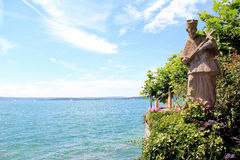 Meersburg by the lake of Constance Stock Photos