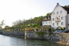 Meersburg no lago Constance, Alemanha Imagens de Stock Royalty Free