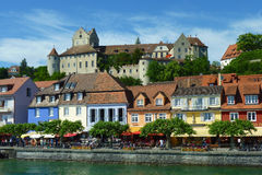 Meersburg och Lake Constance Royaltyfria Foton
